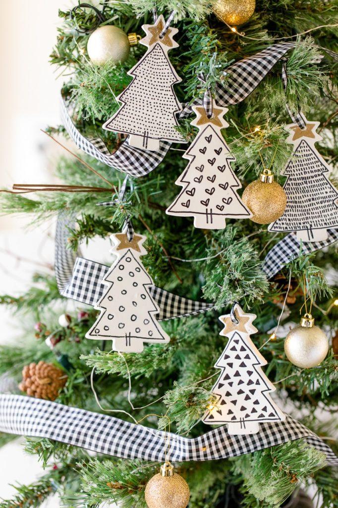 Farmhouse Tree Christmas Ornaments DIY