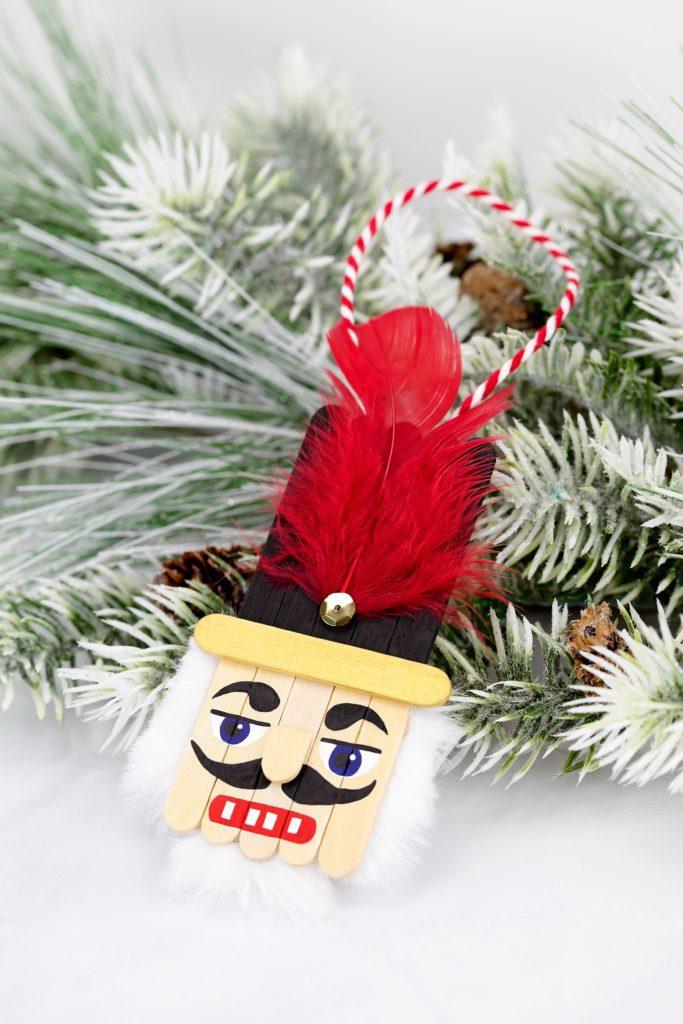 Popsicle Stick Nutcracker Christmas Tree Ornament