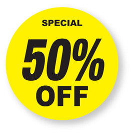 Image result for discount labels 50%