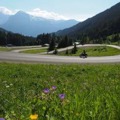 motortour kromme wegen Franse Alpen