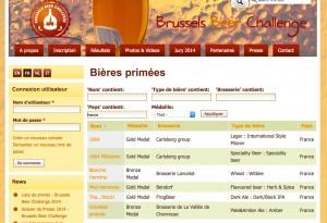 Médailles France Brussels Beer Challenge
