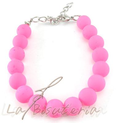Pulsera fluor rosa, pulsera neon rosa