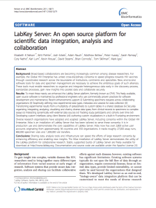 LabKey Server: An open source platform for scientific data integration, analysis and collaboration