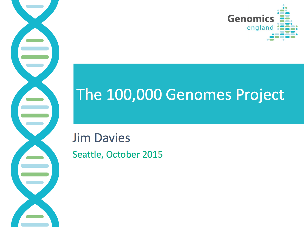 The UK 100,000 Genomes Project