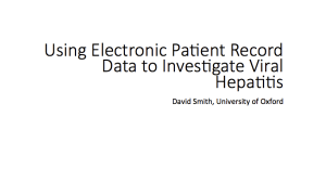 Using electronic patient record data to investigate viral hepatitis