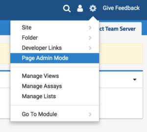 LabKey Server Page Admin Mode
