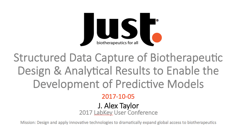 Structured Data Capture of Biotherapeutic Design & Analytical Results to Enable the Development of Predictive Models