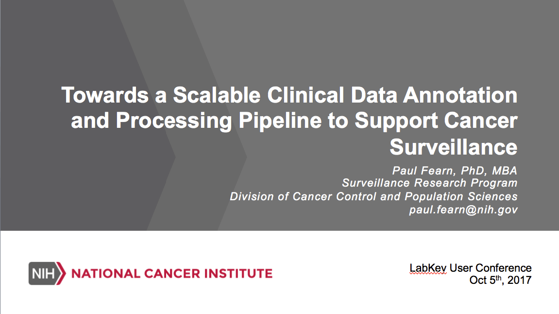 Towards a Scalable Clinical Data Annotation and Processing Pipeline to Support Cancer Surveillance