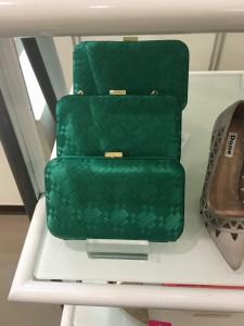 Rebecca Box Clutch Bag Green £35.00