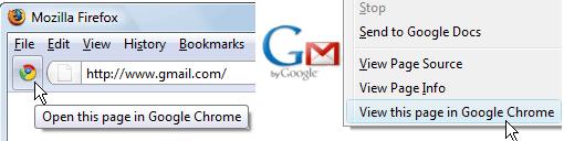 Open Websites in Google Chrome from Firefox