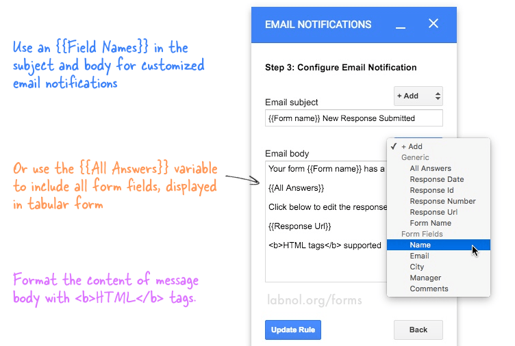 · add this extension to chrome so will have the insert template at the button in your gmail. How To Get Google Forms Responses In An Email Message Digital Inspiration