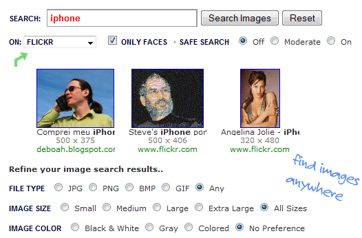 Search Photo Sharing Websites with Google Images