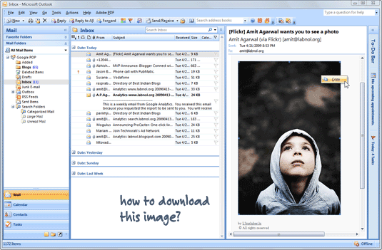 How to Download Images from an Outlook Email