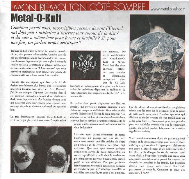 Article Daily Rock November 2013