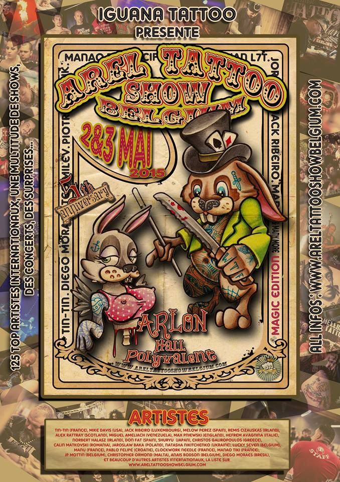 Flyer Arel Tattoo Show 2015
