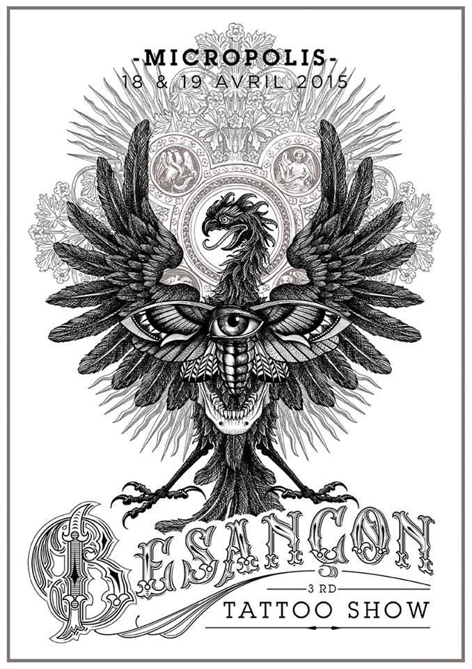 Flyer Besançon Tattoo Show 2015