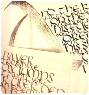 "Calligraphy Exemples ""Uncial Script"""