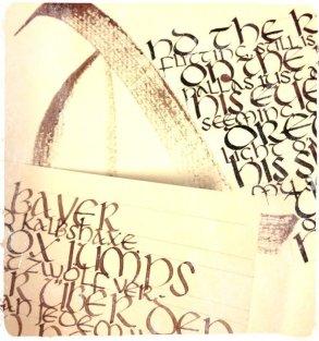 "Calligraphy Exemples ""Uncial Script"""