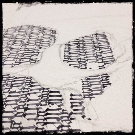 "Collaboration ""Memento Mori"" Ka & Guy – Work in progress"