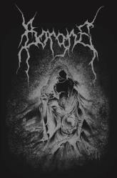 "Design for a hoodie of swiss black metal band ""Borgne"" by Guy Labo-O-Kult"