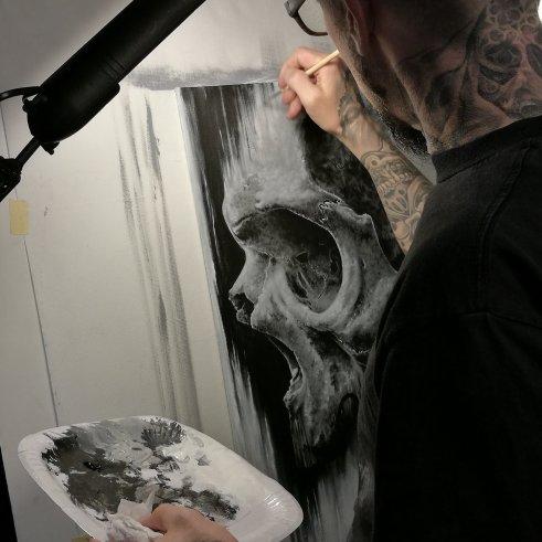 "Guy Labo-O-Kult working on ""Kairos"""