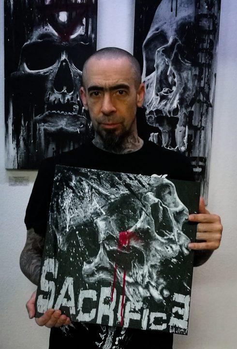 """Sacrifice"" - Acrylpainting by Guy Labo-O-Kult"