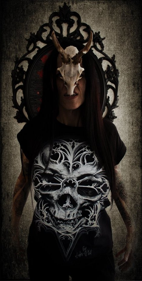 "Ka L-O-K posing with our ""O Tempus Edax"" T-shirt"