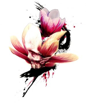 """Magnolia Skull"" - Creation of Labo Pogo Tattoo Motif"