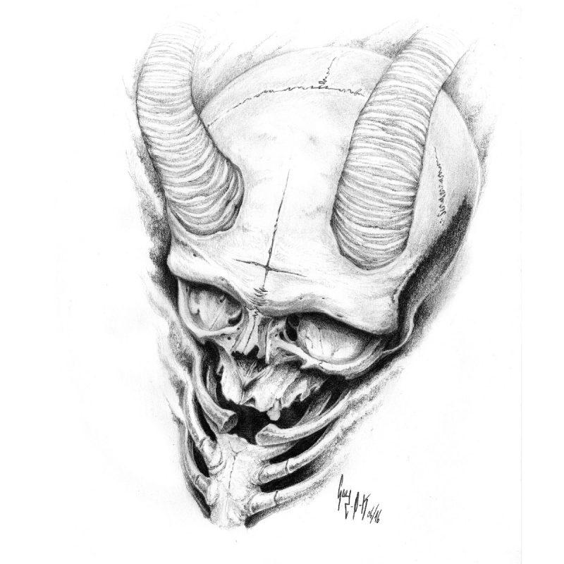 "Pencil Drawing ""Nihil Obstat"" Guy Labo-O-Kult"