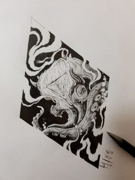 "Pencil Drawing ""Octopus"""