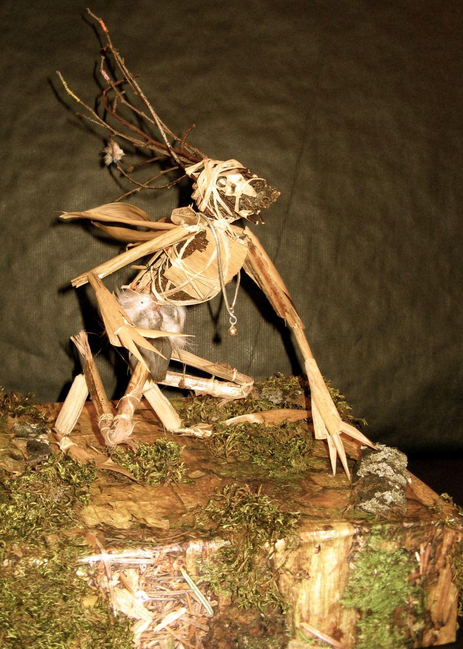 Primitive Creature made from flotsam