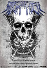 "Design for the trashmetal festival ""Rock the Hell"""