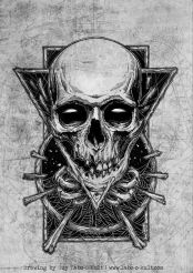 """Design for the trashmetal festival """"Rock the Hell"""""""