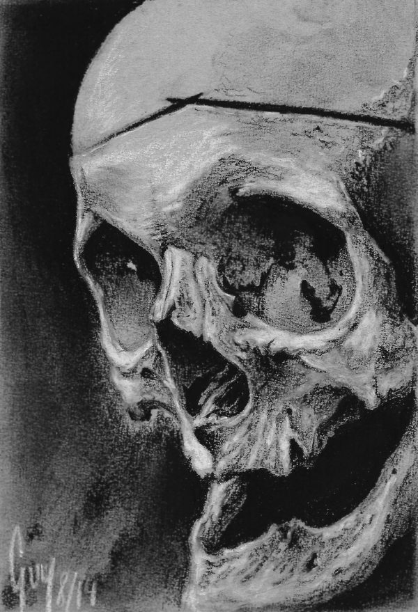 """Charcoal Drawing """"one of three"""" by Guy Labo-O-Kult"""