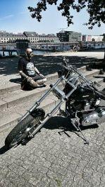 "Tattoo Fest Branding member with ""O Tempus Edax"" shirt posing in Berlin"