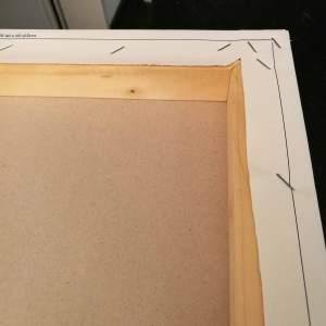 The back of the mounted canvas print - die Rückseite der Leinwand - vue de l'arrière de la toile imprimée