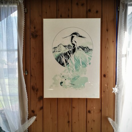 Cinera Ardea – HelvEditionOne of the limited artwork proudly hung up in its new home.
