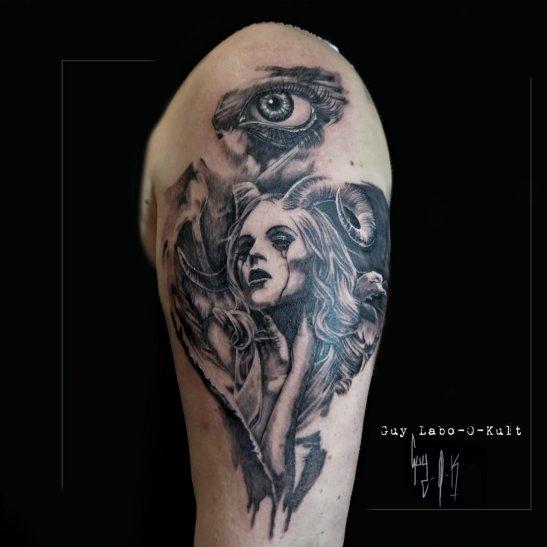 Tattoo done at Mondial du Tatouage, Paris, France - 2017
