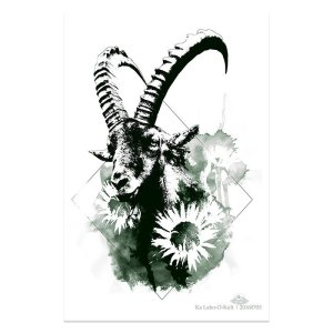 "HelvEdition Artwork by Ka L-O-K ""Capra Ibex"""