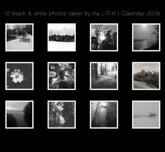 12 black_and_whithe photos by Ka L-O-K | Calendar 2018