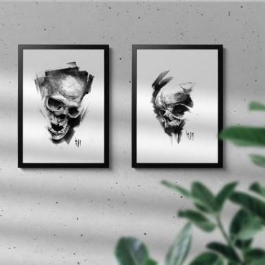 Mock Up avec des dessins Pulvis Es, Guy Labo-O-Kult
