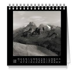 """Page d'exemple du calendrier 2018 """"B&W"""" de Ka L-O-K"""