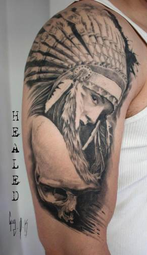 Healed Tattoo done by Guy Labo-O-Kult