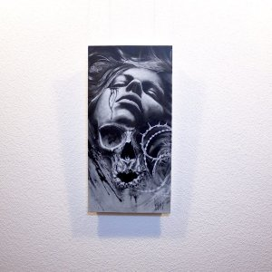 """Cruciatus"" - Oeuvre original de Guy Labo-O-Kult, peinture acrylique"