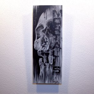 "Original Artwork ""Mortalis""  by Guy Labo-O-Kult (Acrylic Painting on canvas board)"