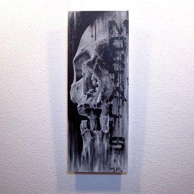 """Originalbild """"Mortalis"""" von Guy Labo-O-Kult (Acrylgemälde auf Leinwandkarton)"""