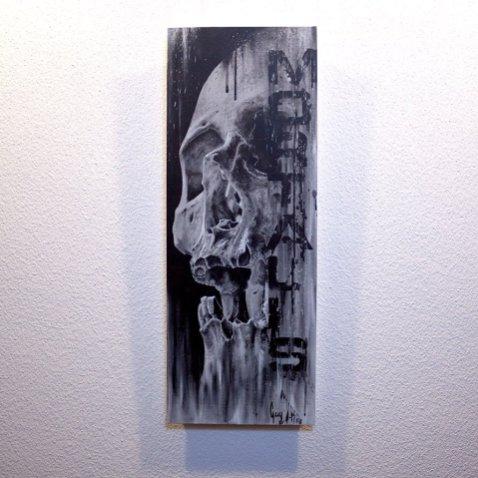 """Mortalis"" - Oeuvre original de Guy Labo-O-Kult, peinture acrylique"