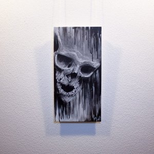 "Original artwork ""Mortuus"" by Guy Labo-O-Kult ( Acrylic Painting on Canvas Board)"