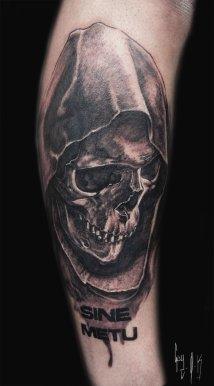 """""""Sine Metu"""", tattoo done by Guy Labo-O-Kult"""