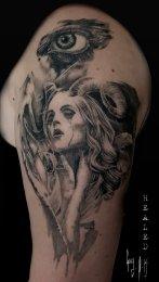 Healed Tattoo done by Guy Labo-O-Kult, during Mondial du Tatouage 2017